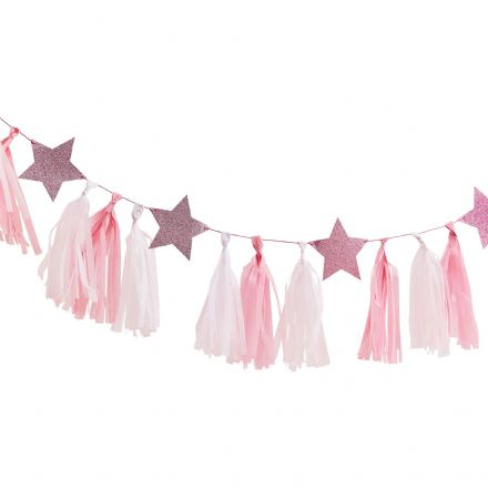 Pamper Party, Pink Sleepover Party Tassel Garland
